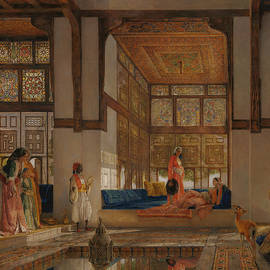 A Lady Receiving Visitors  - John Frederick Lewis