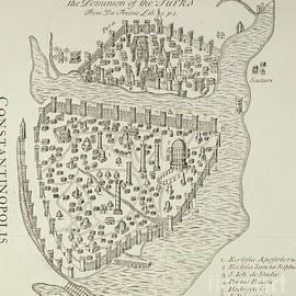 A map of Constantinople in 1422 - Cristoforo Buondelmonti