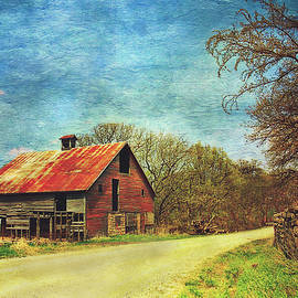 Abandoned Red Barn by Anna Louise