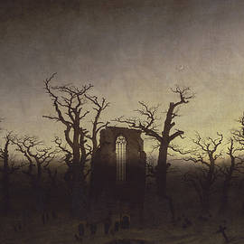 Abbey Among Oak Trees by Caspar David Friedrich