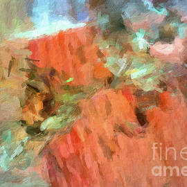 Amy Cicconi - Abstract34 digital oil painting full of texture and bright color