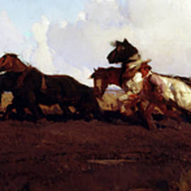 george w lambert - across the black soil plains