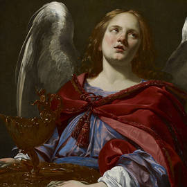 Angels with Attributes of the Passion - Simon Vouet