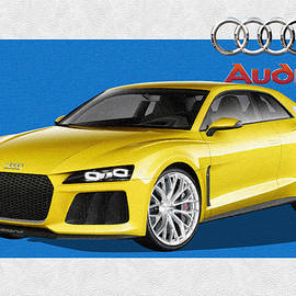 Audi Sport Quattro Concept with 3 D Badge