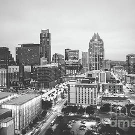 Paul Velgos - Austin Skyline Black and White Photography