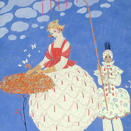 Autumn Roses - Georges Barbier