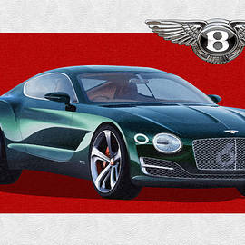 Bentley E X P  10 Speed 6 with  3 D  Badge