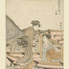 Katsukawa Shuncho - Bij de Ryogoku brug, Katsukawa Shuncho, 1783 - 1787