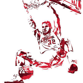 BLAKE GRIFFIN LOS ANGELES CLIPPERS PIXEL ART 6 - Joe Hamilton