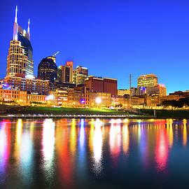 Gregory Ballos - Blue Hour over the Nashville Skyline