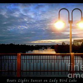 Felipe Adan Lerma - Boat, Lights, Sunset On Lady Bird Lake