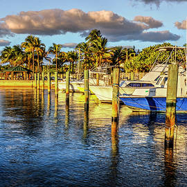 Boats in the Evening Sunshine by Debra and Dave Vanderlaan