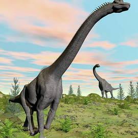 Brachiosaurus dinosaurs - 3D render by Elenarts - Elena Duvernay Digital Art