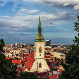 Artur Bogacki - Bratislava City at Sunset in Slovakia