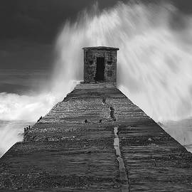 Breakwater In A Storm by Isaac Silman