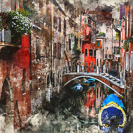 Kai Saarto - Canal in Venice