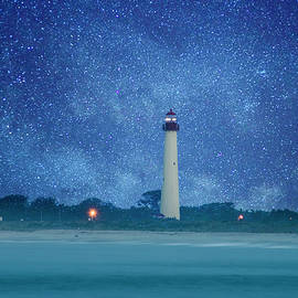 Bill Cannon - Cape May Lighthouse at Night