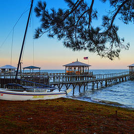 Cat And Piers In Fairhope by Michael Thomas