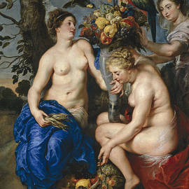 Ceres With Two Nymphs by Peter Paul Rubens and Frans Snyders