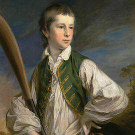 Charles Collyer as a Boy, with a Cricket Bat - Francis Cotes