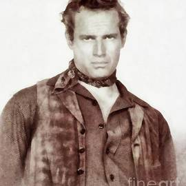 John Springfield - Charlton Heston, Vintage Actor by JS