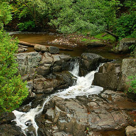 Chester Creek Waterfall by Bill Morgenstern