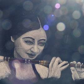 Chinese Flute Player by Richard Le Page