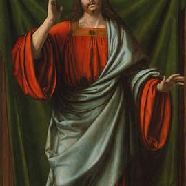 Andrea Solario - Christ Blessing