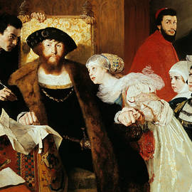 Christian II signing the Death Warrant of Torben Oxe - Eilif Peterssen