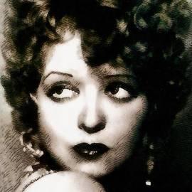 John Springfield - Clara Bow, Vintage Actress by John Springfield
