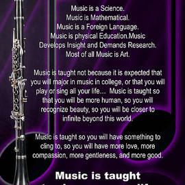 Clarinet Why Music Picture Or Poster  4817.02 by M K Miller