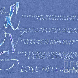 Judy Dodds - 1 Cor 13  Love Never Ends