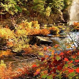 Dead River Falls  Marquette Michigan by Michael Bessler