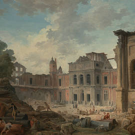 Demolition of the Chateau of Meudon - Hubert Robert