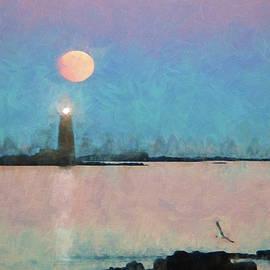 Jeff Folger - Digital painting of Maine Lighthouse