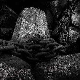 Dolosse And Chains Black And White by TL Mair