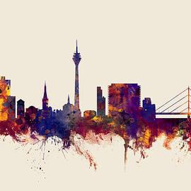 Dusseldorf Germany Skyline - Michael Tompsett