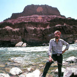 Edward Abbey by the Colorado River - The Harrington Collection