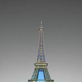 Eiffel tower Paris blue gold on black and white color splash by Mr Splash