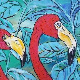 Flamingos  by Arrin Freeman