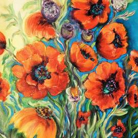 Tanya Fish - Flowers - Fire of Poppies