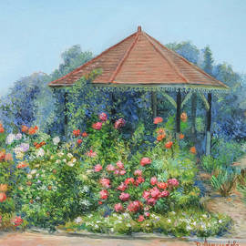 Gazebo with flowers by Dominique Amendola