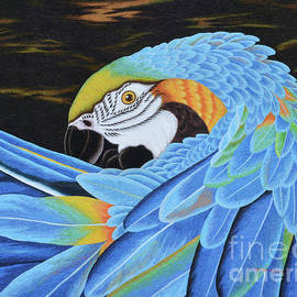 To-Tam Gerwe - Golden Macaw hand embroidery