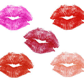 Graphic Lipstick Kisses by Blink Images