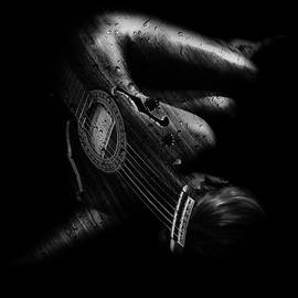 Guitar Woman by Marian Voicu