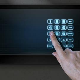 Hand Pressing Modern Home Security - Allan Swart