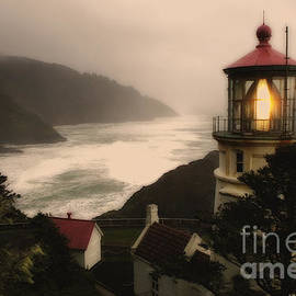 Heceta Head Lighthouse Oregon by Bob Christopher