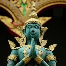 Imran Ahmed - Hindu deity greets at Buddhist temple Chiang Mai Thailand