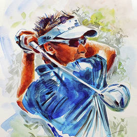 Ian Poulter by Mark Robinson