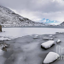 Icy Lake Snowdonia by Adrian Evans